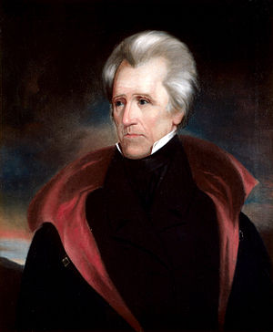 Portrait of Andrew Jackson - Seventh president of the USA