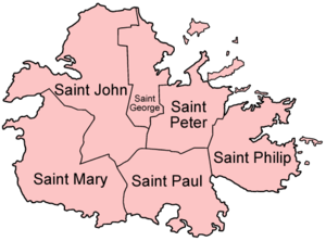 Parishes of Antigua