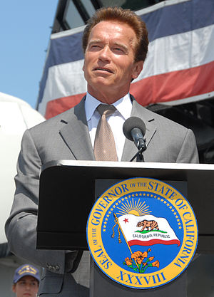 English: California Governor Arnold Schwarzene...