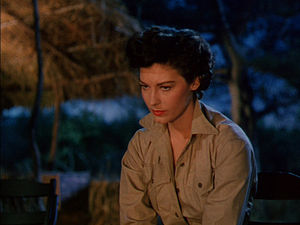 Screenshot of Ava Gardner from the film The Sn...