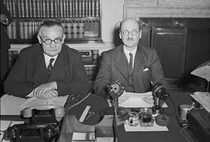 Clement Attlee (right) Ernest Bevin