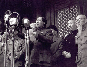 Pictured here is former Chinese Chairman Mao Z...