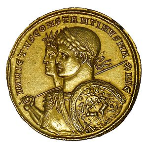 Constantine. Gold multiple medallion