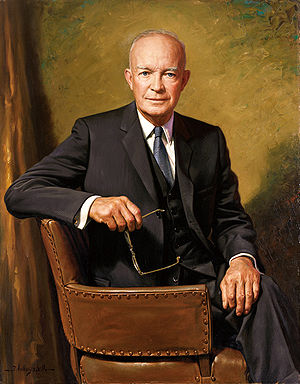 Dwight D. Eisenhower, official portrait as President
