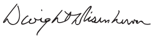 Signature of Dwight D. Eisenhower.