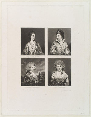 Elizabeth, Marchioness of Lothian; Jane, Duchess of Gordon; Henrietta, Countess of Bessborough; Isabella, Marchioness of Hertford, by Sir Joshua Reynolds
