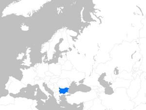 English: Location map of Bulgaria within Europe