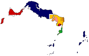 Flag-map of the Turks and Caicos Islands
