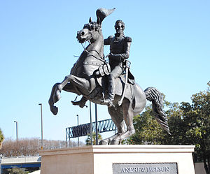 A photo of the Andrew Jackson statue in downtown Jacksonville.