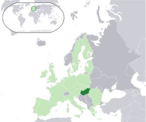 Location map: Hungary (dark green) / European ...