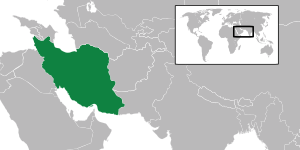 English: Map locating Iran.