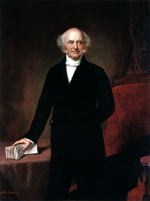 Portrait of Martin Van Buren, the eighth President of USA by GPA Healy
