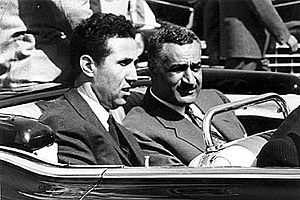 English: Egyptian President Gamal Abdel Nasser...