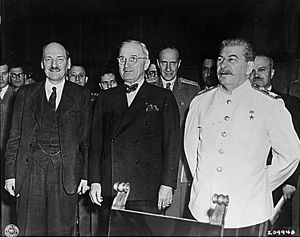 From left to right. British Prime Minister Cle...