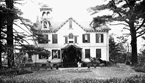 Photograph of Lindenwald, home of Martin Van Buren, the eighth President of the United States