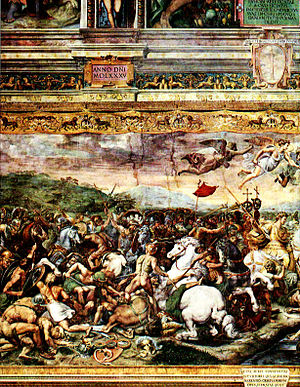 Constantine at the battle of the Milvian Bridge