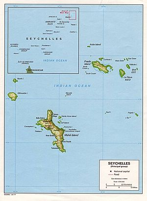 Map of the Republic of Seychelles