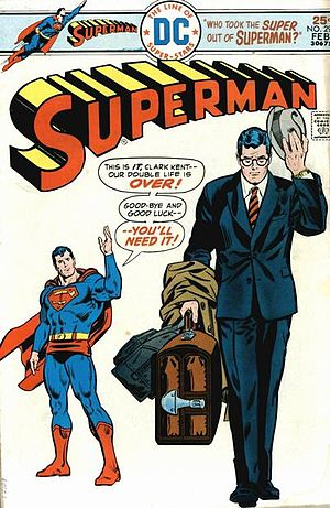 Superman and his alter ego, Clark Kent
