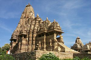 Temple at Khajuraho, Madhya Pradesh, India