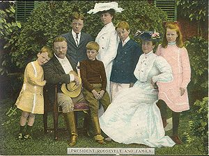 US President Theodore Roosevelt and family