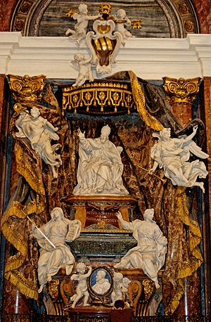 Tomb of Pope Gregory XV Ludovisi and of his ne...