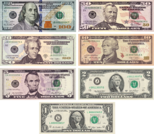 US Dollar Notes