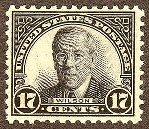 US Postage stamp: Woodrow Wilson, Issue of 1925, 17c