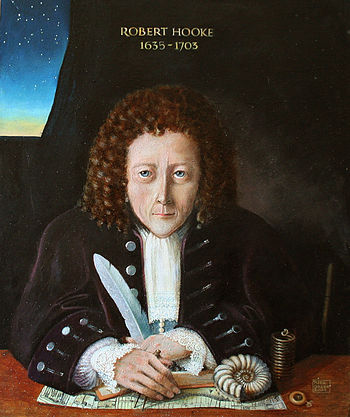 Portrait of Robert Hooke - Oil on board by Rita Greer 2004