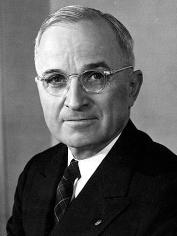 Harry S. Truman, the thirty-third President of the United States of America.