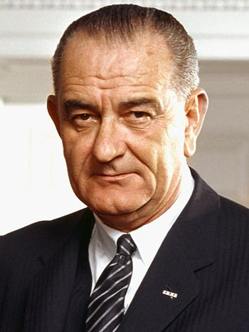 Photo portrait of Lyndon B. Johnson - 36th President of USA.