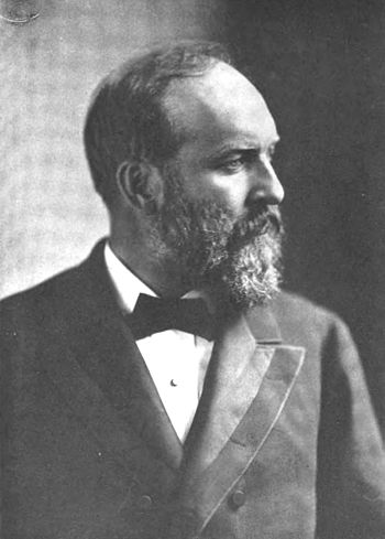 Portrait photograph of James A. Garfield, the 20th president of the United States of America.