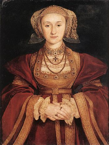 Painting of Anne of Cleves, fourth wife of the English King Henry VIII