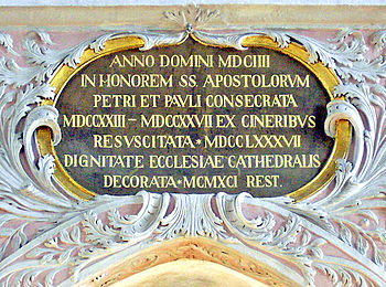 Anno Domini inscription at Carinthia cathedral, Austria