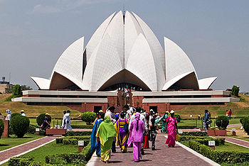 Bahá'í House of Worship, New Delhi, India.
