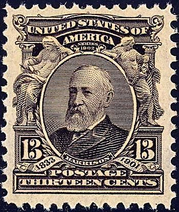 US Postage stamp: Benjamin Harrison, Issue of 1903, 13c
