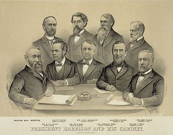 President Benjamin Harrison and his cabient