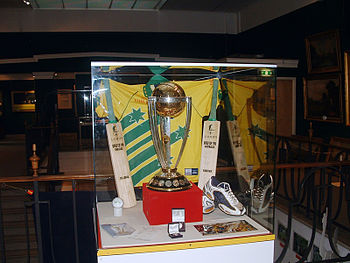 Cricket World Cup Trophy at Lords, England