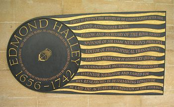 Plaque in South Cloister of Westminster Abbey