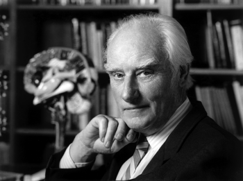 Francis Crick in his office.