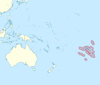 Location of French Polynesia in Oceania.