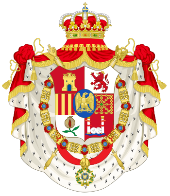 Grand Coat of Arms of Joseph Napoleón Bonaparte as Spanish Monarch
