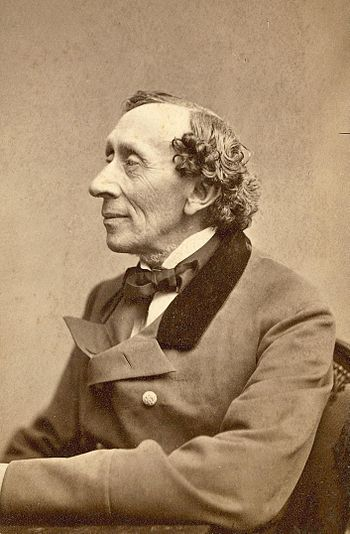 A portrait of the Danish writer Hans Christian Andersen
