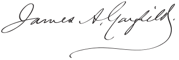 Signature of James A. Garfield.