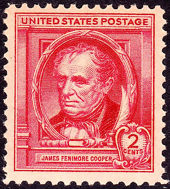US Postage stamp - James Fenimore Cooper