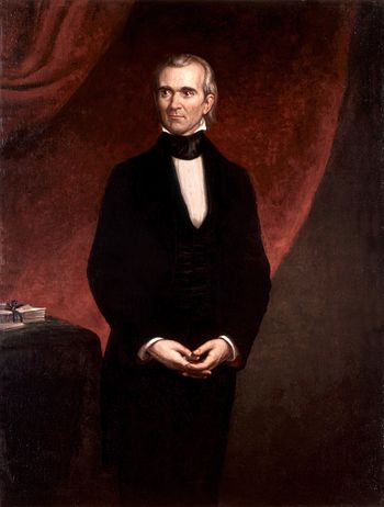 Portrait of President James Knox Polk, the eleventh President of USA.