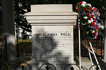 Tomb of eleventh President of the United States James Knox Polk