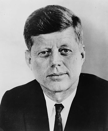 John F. Kennedy, 35th President of the United States.