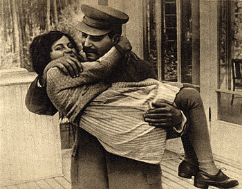 Joseph Stalin with daughter Svetlana, 1935.