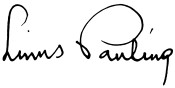 Signature of Linus Pauling