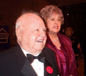 Actor comedian Mickey Rooney, 80, and his wife, Jan